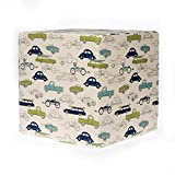 Sweet Potato Uptown Traffic Car Print Pouf