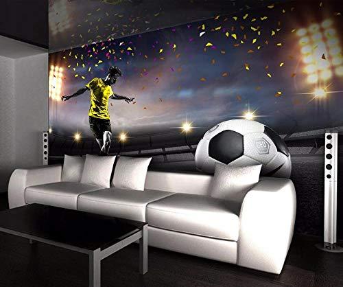 WEREWTR Custom Wallpaper HD Huge Football Field 3D TV Background Wall Living Room Bedroom Background Walls murals 3D Wallpaper 250cmx175cm