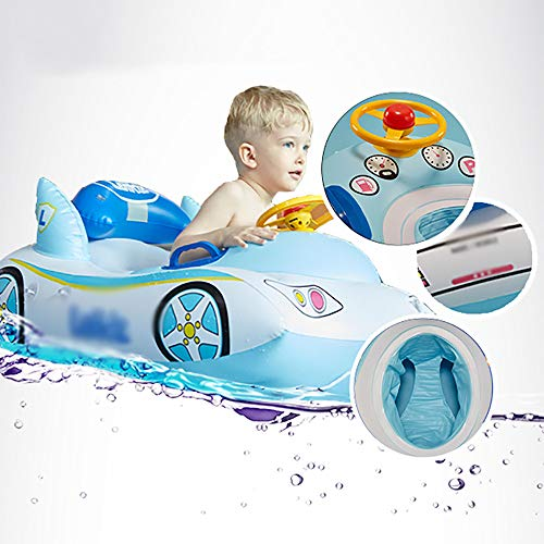 QJJML Children's Swim Ring, Newborn Baby Sitting Circle Car Swimming Boat Shade Floating Boat by QJJML (Image #1)