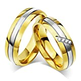 99 cent free shipping - Beydodo 1PCS Stainless Steel Ring 5 Round 6MM Width Wedding Rings Mens Love Ring Band