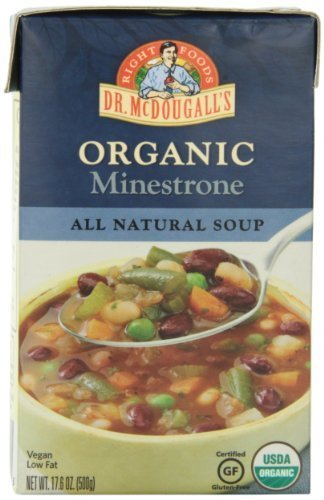 - Dr. McDougall's Right Foods Soup,Organic Minestrone, 17.6 oz. (Pack of 6) by Dr. McDougall's Right Foods