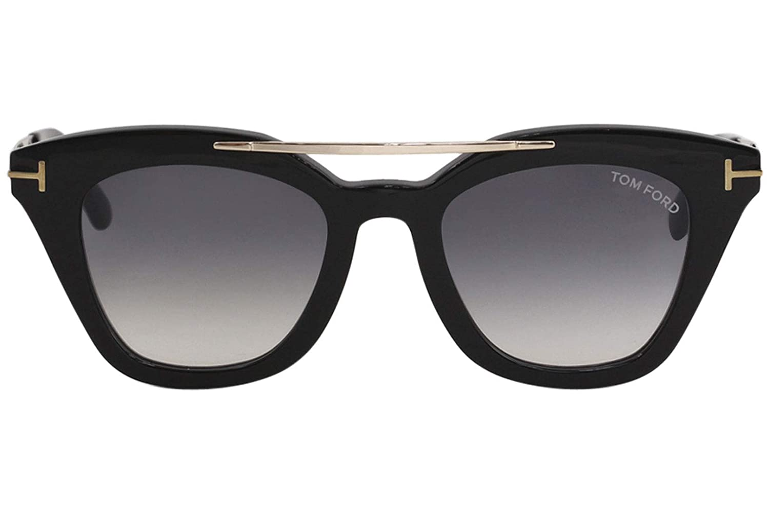 fe8cf63b9f Sunglasses Tom Ford FT 0575 Anna- 02 01B shiny black   gradient smoke at  Amazon Men s Clothing store