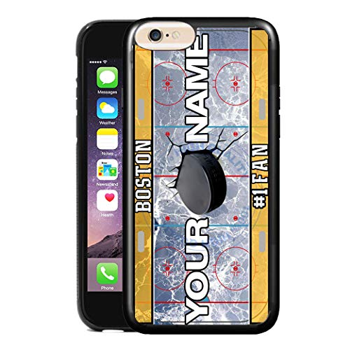 (BRGiftShop Customize Your Own Hockey Team Boston Rubber Phone Case for Apple iPhone 6 Plus & iPhone 6s Plus 5.5 Inches Screen)