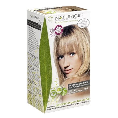 9.0 Very Light - Naturigin Permanent Hair Color, Very Light Natural Blonde