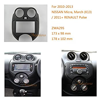 Autostereo Double Din Radio Stereo Dash Install Mount Trim Kit For Nissan Micra March