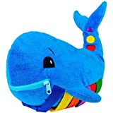 """BUCKLE TOY """"Blu"""" Whale - Toddler Early Learning Basic Life Skills Children's Plush Travel Activity"""