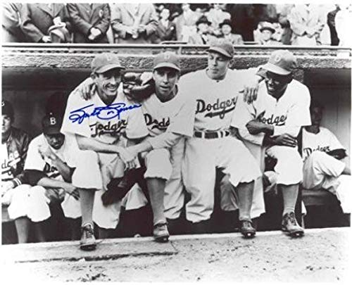 Spider Jorgensen Autographed 8x10 Photo - Dodgers Dugout