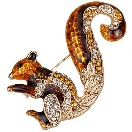 Szxc Jewelry Cute Squirrel Brooch Pin for Women Teen Girls - 2