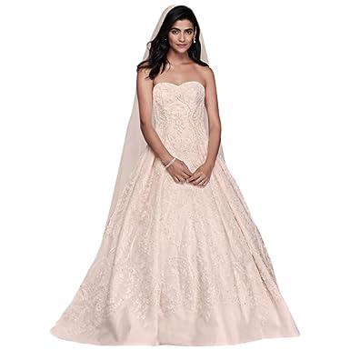 David\'s Bridal Oleg Cassini Beaded Lace Tulle Wedding Dress Style ...