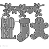 Florilèges Design FDD21429 Outil de Découpe pour Scarpbooking Noel Gourmand Noir 11,5 x 12,5 x 0,2 cm