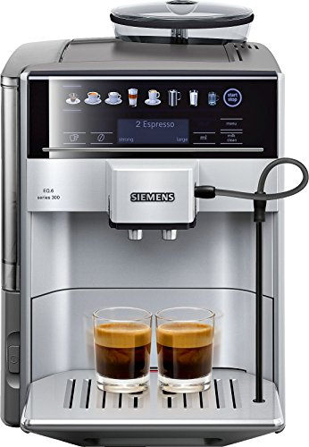 Siemens EQ.6 TE603201RW Super Fully Automatic Espresso Machine, Coffee Capuccino Latte Maker, OneTouch DoubleCup System, SIlver
