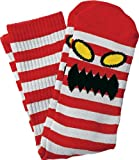 Toy Machine Monster Stripe Crew Socks [White/Red] Single Pair