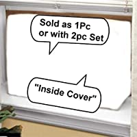Window Air Conditioner Cover - Window/thru Wall - Outdoo/Indoor - 2PC SET -26W,16H,16D and 26W,16H,4D - White
