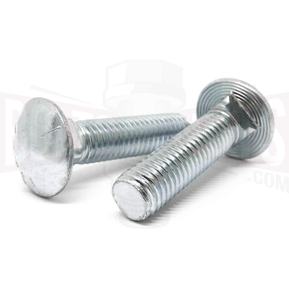 30 PCS 1//2-13x1 Grade 5 Full Thread Carriage Bolts Zinc Clear