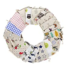 25Pcs Burlap Bags with Drawstring, Carnatory Multicolor Reusable Gift Bags Jewelry Linen Pouches for Jewelry Pouch, Wedding, Birthday Parties Favor, Gift/Candy Bags