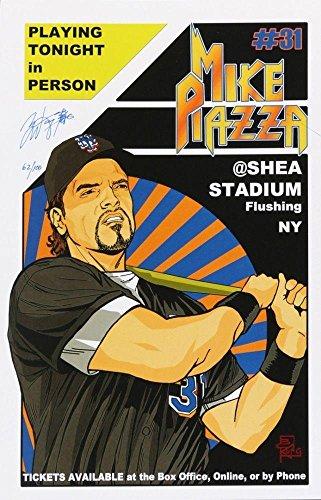 @ SHEA STADIUM 11x17 LITHO PRINT SIGNED BY ARTIST BRIAN KONG - Autographed MLB Art (Autographed Shea Stadium)