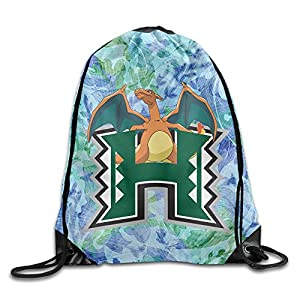 PKTWO Cinch Backpack University Of Hawaii Firedragon Travel Drawstring Bag
