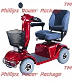 CTM - HS-740 - Full Size Heavy Duty Road Class Scooter - 4-Wheel - Burgundy - PHILLIPS POWER PACKAGE TM - TO $500 VALUE