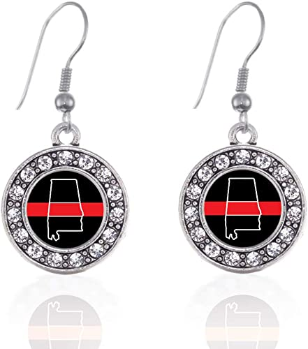 Flag of Argentina Dangling Drop Square Charm Earrings