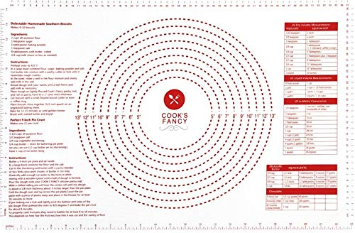 Cook's Fancy Silicone Pastry Mat with Measurements, 24