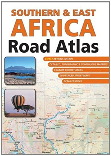 East Africa Road Map.Southern East Africa Road Atlas Map Studio 9781770264366