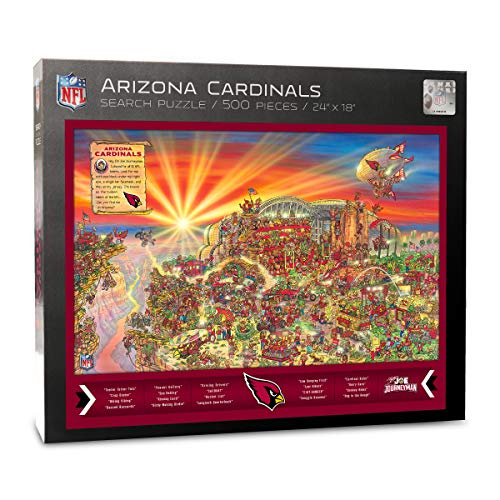 Piece Puzzle 500 Cardinals - NFL Arizona Cardinals Joe Journeyman Puzzle - 500-piece