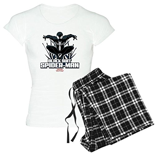 CafePress Black Suit Spiderman - Womens Novelty Cotton Pajama Set, Comfortable PJ Sleepwear