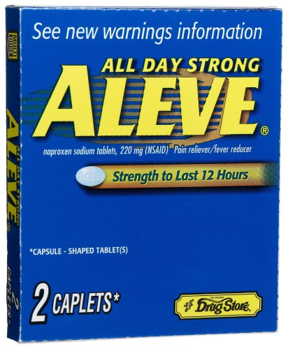 Lil' Drugstore Products Aleve Caplets, 2-Count Boxes (Pack of 12) by Lil' Drugstore