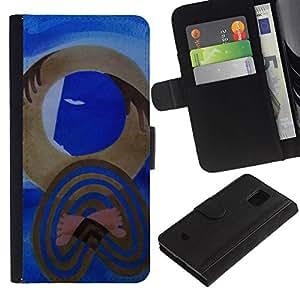 All Phone Most Case / Oferta Especial Cáscara Funda de cuero Monedero Cubierta de proteccion Caso / Wallet Case for Samsung Galaxy S5 Mini, SM-G800 // cubismo arte moderno Picasso acuarela