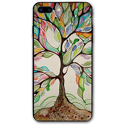 iPhone 7/8 Plus Clear Case Nature and Love Drawing Printed Black/Transparent Plastic with Durable Bumper Protective Back Phone Case Cover for Apple iPhone 7/8 Plus(5.5 Inch) -