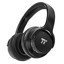 Cuffie Bluetooth TaoTronics con Sistema di Cancellazione Attiva del Rumore e 30 Ore di Riproduzione, Headset Auricolare Wireless con con Microfono e Doppio Driver da 40 mm con Bassi Profondi per IOS e Android