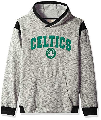 Outerstuff NBA NBA Youth Boys Boston Celtics Fast Break Pullover Hoodie, Grey, Youth Large(14-16)