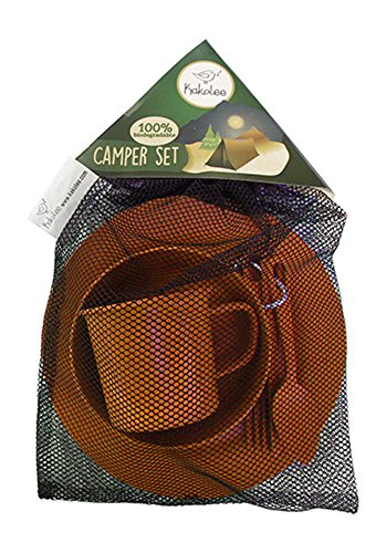 Premium Eco-Friendly, Bamboo Fiber Camping Set