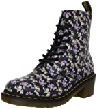 Dr. Martens Women's Clemency Boot Floral,Black Mini Tydee,6 UK/8 M US