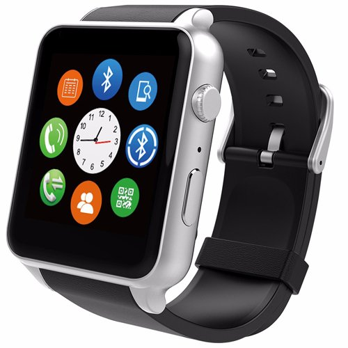 Smart Watch, Mindkoo GT88 Waterproof IP57 NFC Bluetooth Connectivity Sports Activity with Heart Rate Monitor Magnetic Charging Health Exercise Fitness Tracker for Android/Apple iOS (Silver)