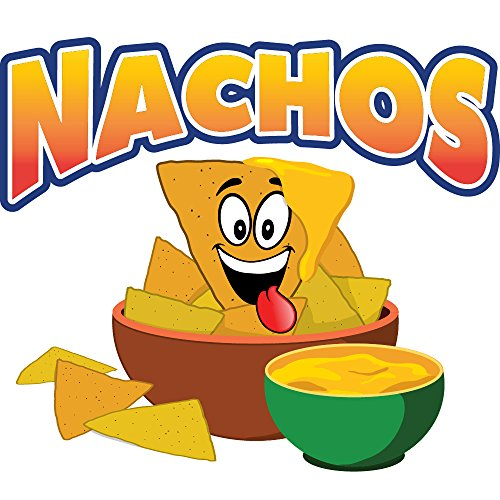 "Nachos 8"" Concession Decal Sign cart Trailer Stand Sticker Equipment"