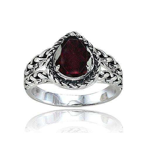 garnet rings for women - 4