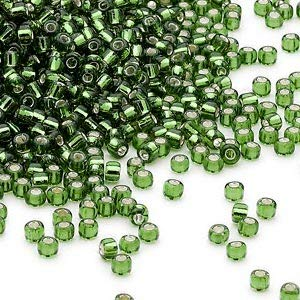 Seed Bead, Dyna-Mites, Glass, Round. Sold per 40-Gram pkg. (Olive - Seed Dynamites