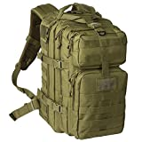 Exos Bravo Tactical Assault Backpack Rucksack. Great as a Bug Out Bag, Daypack, or Go Bag; for Hiking, or Camping. Molle Equipped & Hydration Pack Ready (Olive Drab)