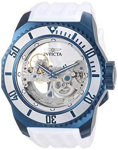 - Invicta Men's 'Russian Diver Stainless Steel and Silicone Automatic Watch, Color:White (Model: 25627