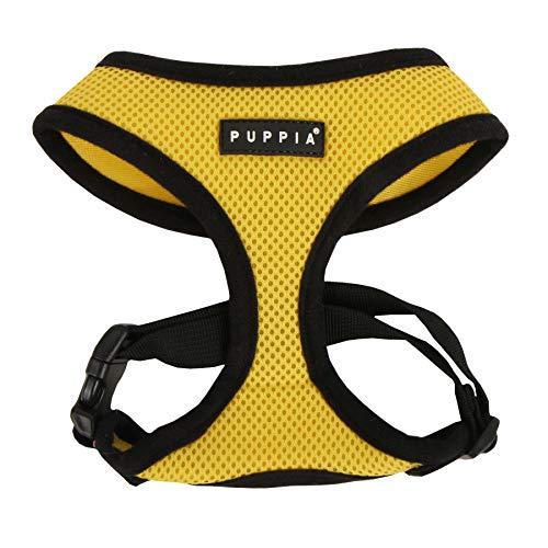 (Puppia Soft Dog Harness, Yellow, Medium)