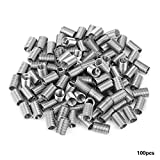 100pcs M5 Stainless Steel Wire Helical Screw Thread Inserts Repair Kit(M5*0.8 * 3D)