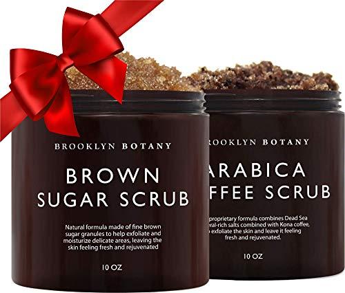 Brooklyn Botany Brown Sugar Body Scrub & Arabica Coffee Body Scrub – Exfoliating Body Scrub – Anti Cellulite Scrub Helps…