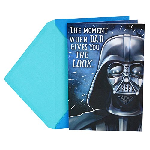 Hallmark Funny Father's Day Greeting Card to Dad from Child (Star Wars Darth Vader The Look)