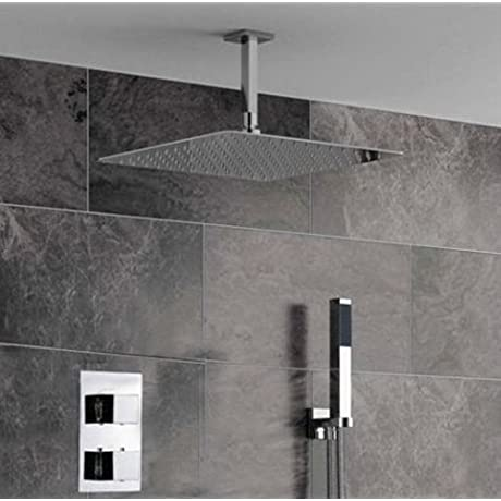 Luxury Bathroom Shower Set With Luxury 16 Ultra Thin Unleaded Shower Head Ceiling Mount Chrome Finish