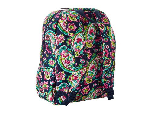 Vera Bradley Laptop Backpack (Updated Version) with Solid Color Interiors (Petal Paisley with Pink Interiors)