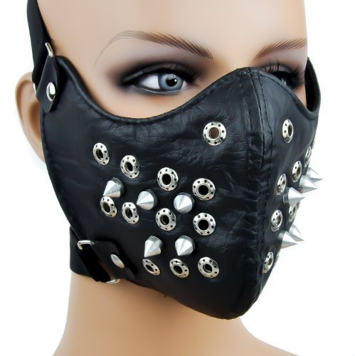 Black Spike Motorcycle Face Mask Protective Paint Ball Gear by Dysfunctional - Motorcycles Gear Protective