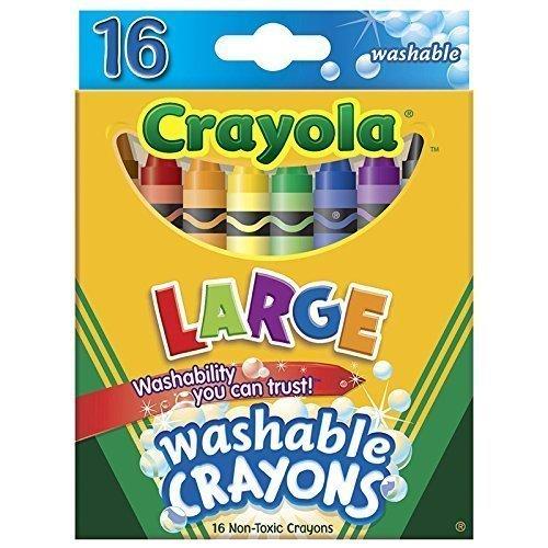 CRAYOLA WASHABLE CRAYONS 16CT LARGE