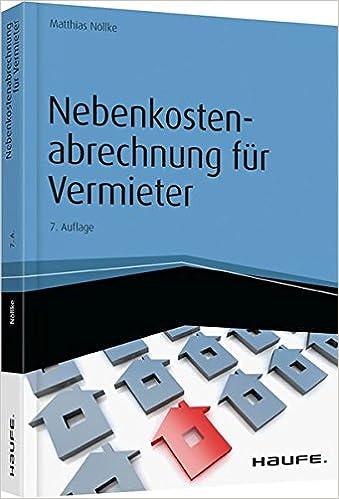 Nebenkostenabrechnung Für Vermieter Haufe Fachbuch Matthias