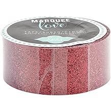 """Heidi Swapp Marquee Love Decorative Tape .875""""-Red Glitter, 10'"""